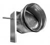 Воздушный клапан для круглых воздуховодов с площадкой под привод ZSK 100